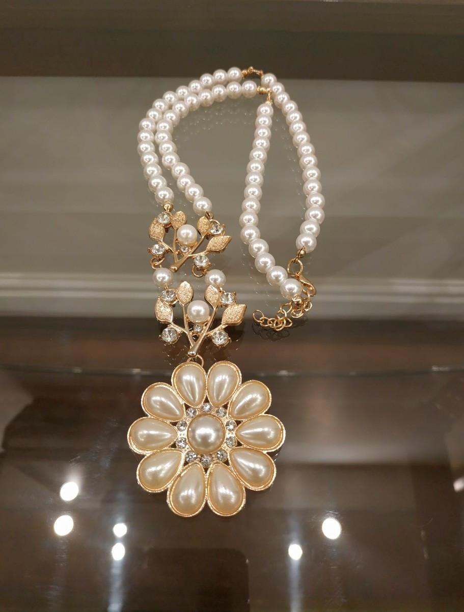 Ожерелье с кристаллами код 1560