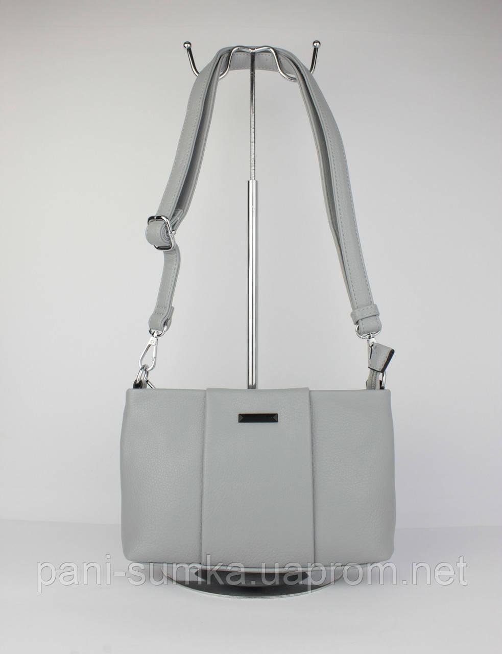Клатч, сумочка через плече Velina Fabbiano 591556 сіра