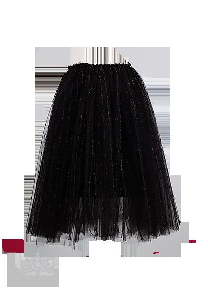 Нарядная юбка-пачка черного цвета для девочки