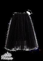 Нарядная юбка-пачка черного цвета для девочки, фото 1