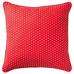ИКЕА MALINMARIA, 404.262.42 Подушка, красный, белый с точками, 40x40 см
