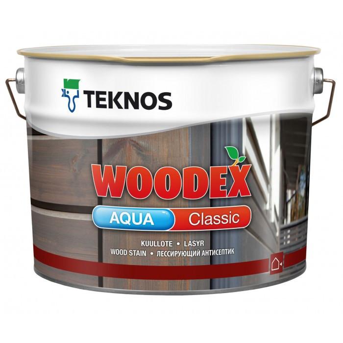 Антисептик для дерева Teknos Woodex Aqua Classic 9л