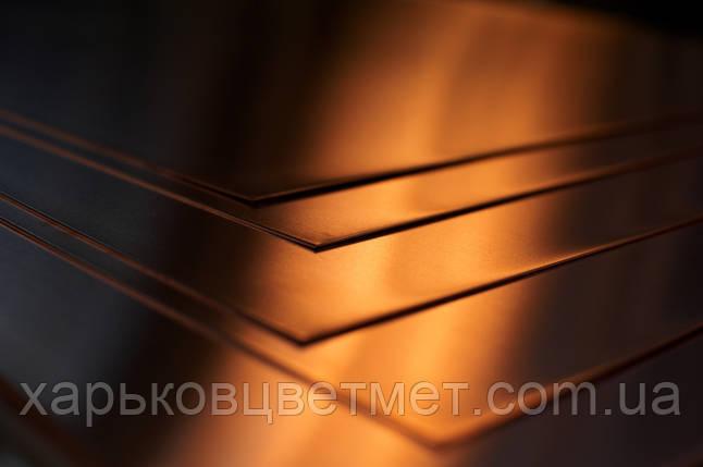 Лист медный мягкий, толщина 5,0 мм (размер 600мм х 1500мм), фото 2