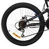"Велосипед 2-х кол. Azimut Blackmount G-FR/D 24"" черно-синий Shimano, противоударные диски, фото 10"
