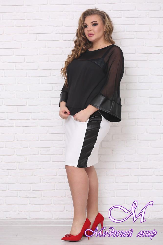 Красивая женская юбка больших размеров (р. 42-90) арт. Комби