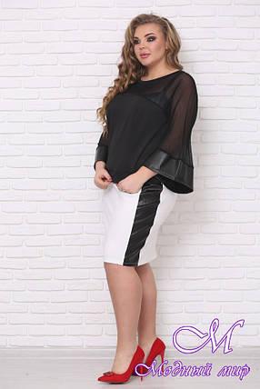 Красивая женская юбка больших размеров (р. 42-90) арт. Комби, фото 2