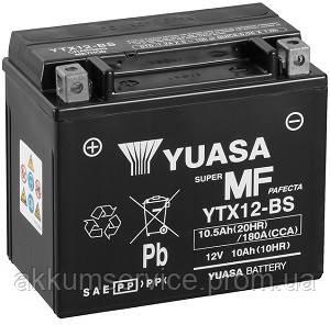 Аккумулятор мото Yuasa MF VRLA 10.5AH/ 180А YTX12-BS(CP)