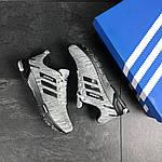 Мужские кроссовки Adidas Marathon (серо-черные), фото 2