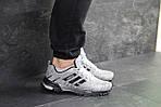Мужские кроссовки Adidas Marathon (серо-черные), фото 4