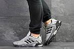 Мужские кроссовки Adidas Marathon (серо-черные), фото 5