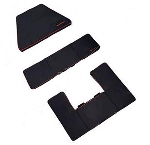 Накладки на сидения Kolibri мягкие 3 шт. (RKM-350), комплект, черний
