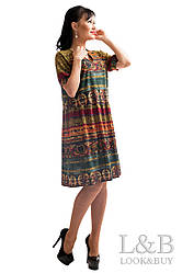 """Летнее платья """"Поли"""",зеленый мозаика"""