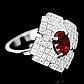 Кольцо из серебра с натуральным рубином, серебро 925, 1640КЦР, фото 2