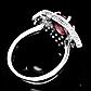 Кольцо из серебра с натуральным рубином, серебро 925, 1640КЦР, фото 3