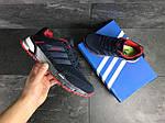 Мужские кроссовки Adidas Marathon (темно-синие с красным), фото 2