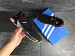 Чоловічі кросівки Adidas Marathon (чорно-помаранчеві), фото 4