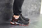 Чоловічі кросівки Adidas Marathon (чорно-помаранчеві), фото 5