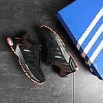 Чоловічі кросівки Adidas Marathon (чорно-помаранчеві), фото 6