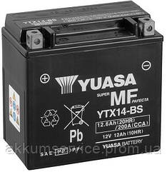 Аккумулятор мото Yuasa MF VRLA 12.6AH/ 200А YTX14-BS(CP)