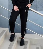 Мужские спортивные штаны Under Armour черные с  манжетом отличного качества . Реплика
