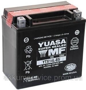 Аккумулятор мото Yuasa MF VRLA 12.6AH/ 200А YTX14L-BS(CP)