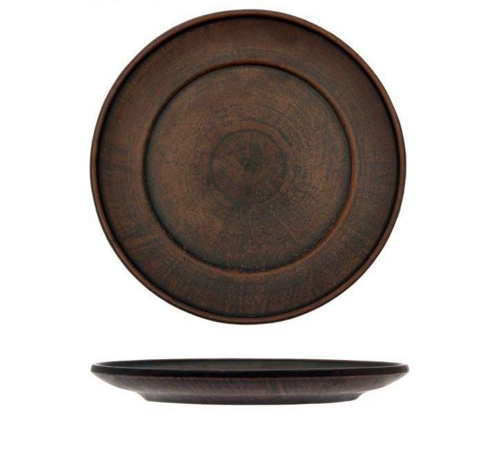 Тарелка глиняная плоская, гладкая 20 см