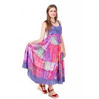 Модный яркий летний сарафан свободного фасона