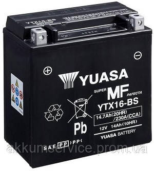 Аккумулятор мото Yuasa MF VRLA 14.7AH/ 230А YTX16-BS(CP)