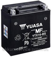 Акумулятор мото Yuasa MF VRLA 14.7 AH/ 230А YTX16-BS(CP)