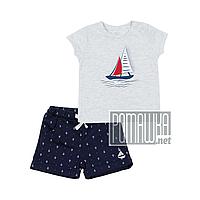 Детский летний костюм 86 10 11 12 мес комплект для мальчика футболка и шорты на лето из КУЛИР 4670 Серый
