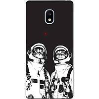Силиконовый чехол для Samsung J3 2017 J330 Коты космонавты
