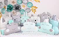 Комплект в кроватку в Нежно мятных цветах, фото 2