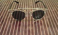 Солнцезащитные очки Dior So Real, серебристые в сером исполнении, прозрачные элементы оправы, фото 1