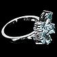 Кольцо из серебра с натуральным голубым топазом, серебро 925, 1641КЦТ, фото 2
