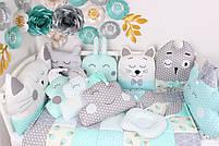 Комплект в кроватку в Нежно мятных цветах, фото 3