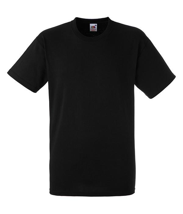Мужская футболка плотная 2XL, 36 Черный