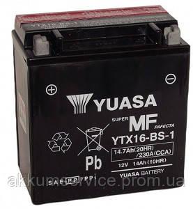 Аккумулятор мото Yuasa MF VRLA 14.7AH/ 230А YTX16-BS-1(CP)
