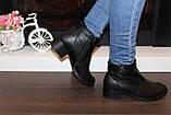 Ботильоны женские черные на небольшом каблуке натуральная кожа код Д572, фото 8
