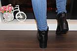 Ботильоны женские черные на небольшом каблуке натуральная кожа код Д572, фото 9