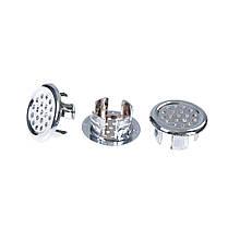 РаковинаКруглоекольцопереполненияЗапаснаякрышка Tidy Chrome Trim Ванная комната Керамический Кольцо переполнения бассейна - 1TopShop, фото 3