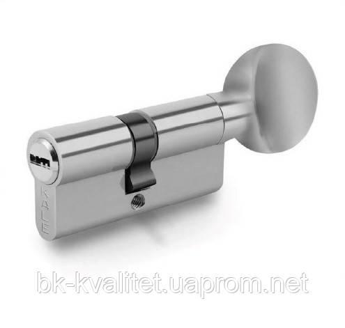Цилиндр KALE 164 BM, BME 62 (31х31Т) тумблер, никель, повышенной секретности