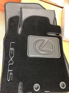 Коврики в салон Lexus LX-570 2015-> текстильные черные (Lexus LX450D) 3шт/комп.