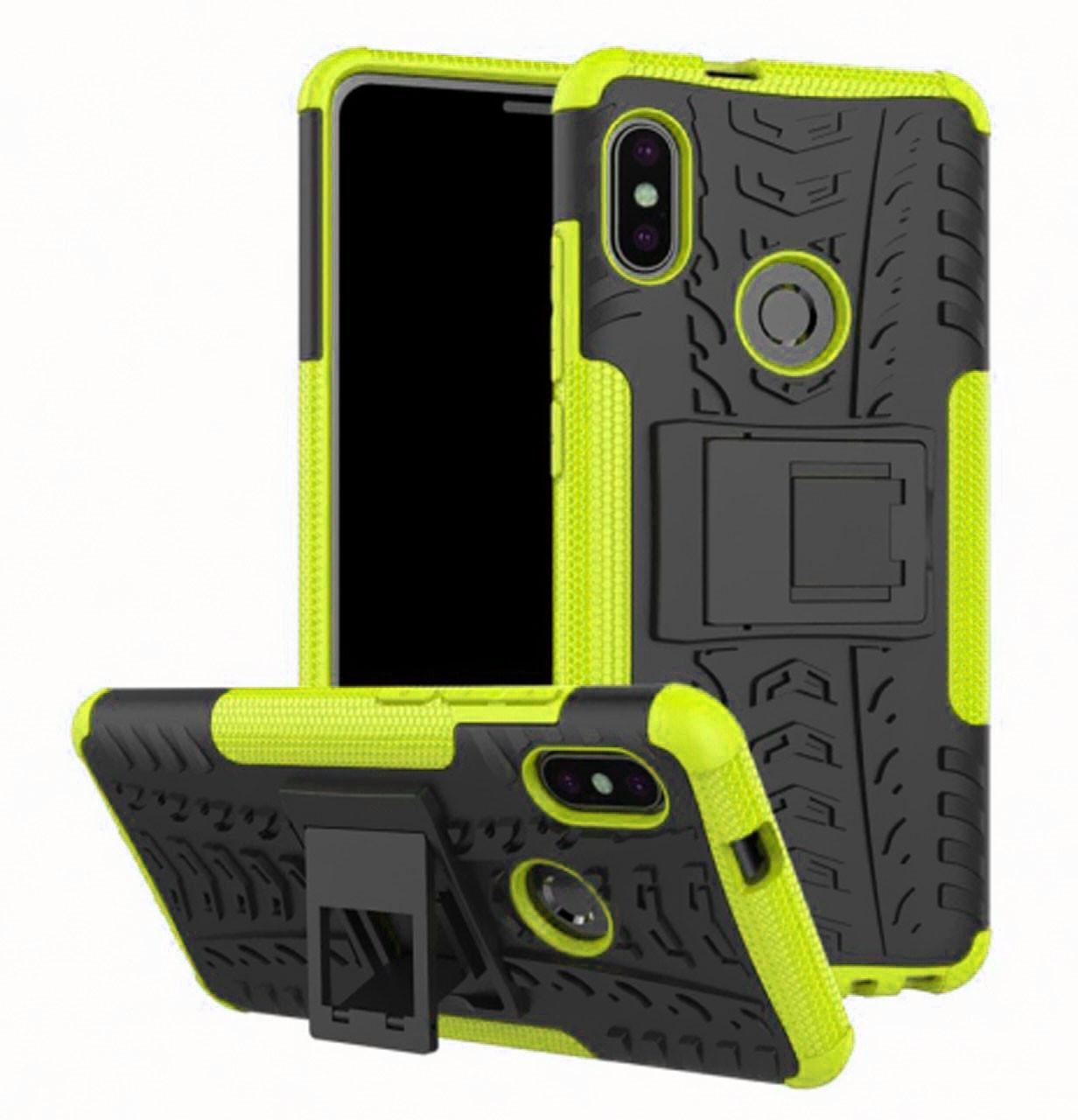 Противоударный двухслойный чехол Shield для Xiaomi Redmi Note 5 Pro / Note 5 (AI DC) Lime