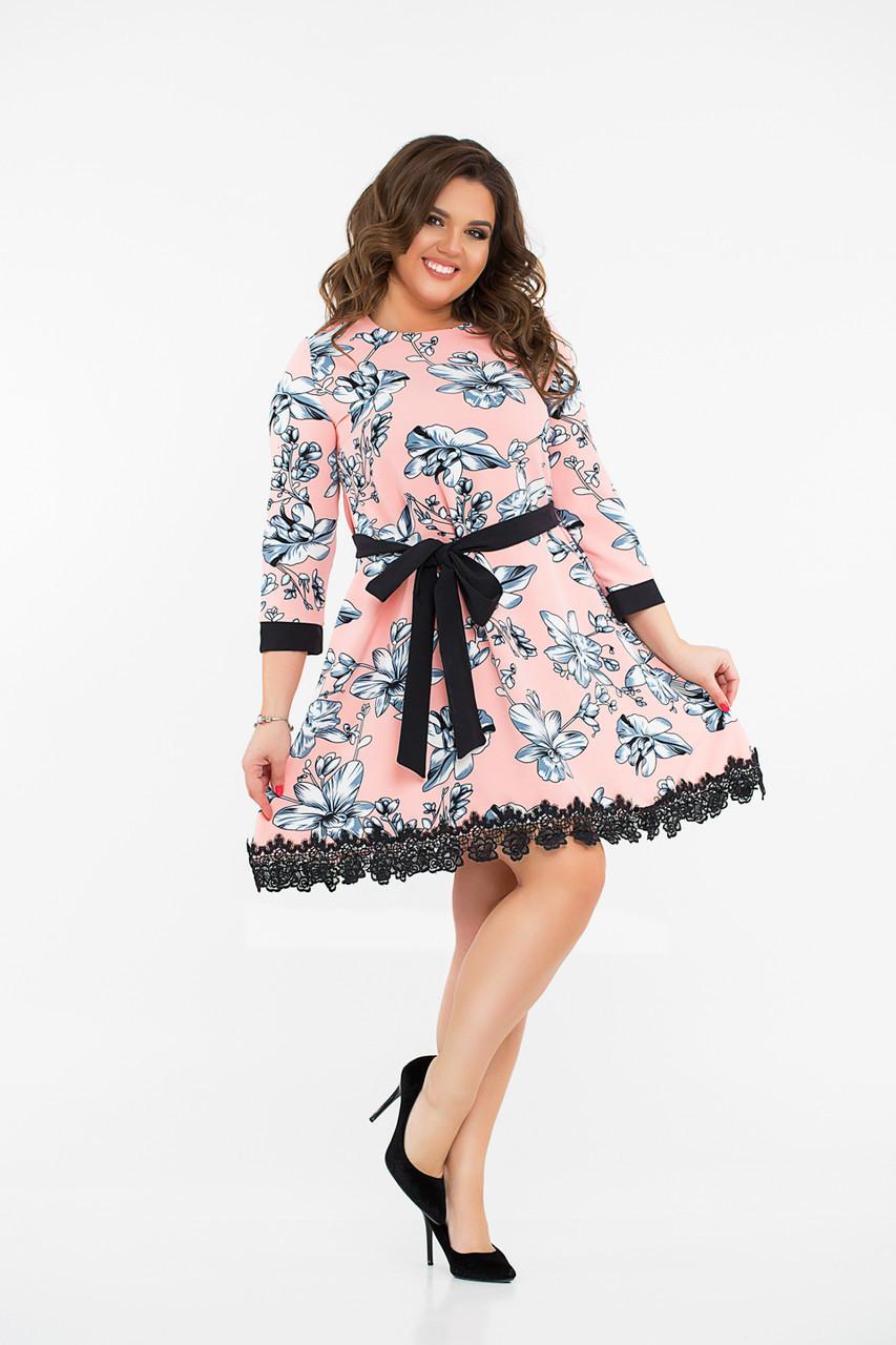 Платье  LiLove 8- 1132 58-60 персиковый