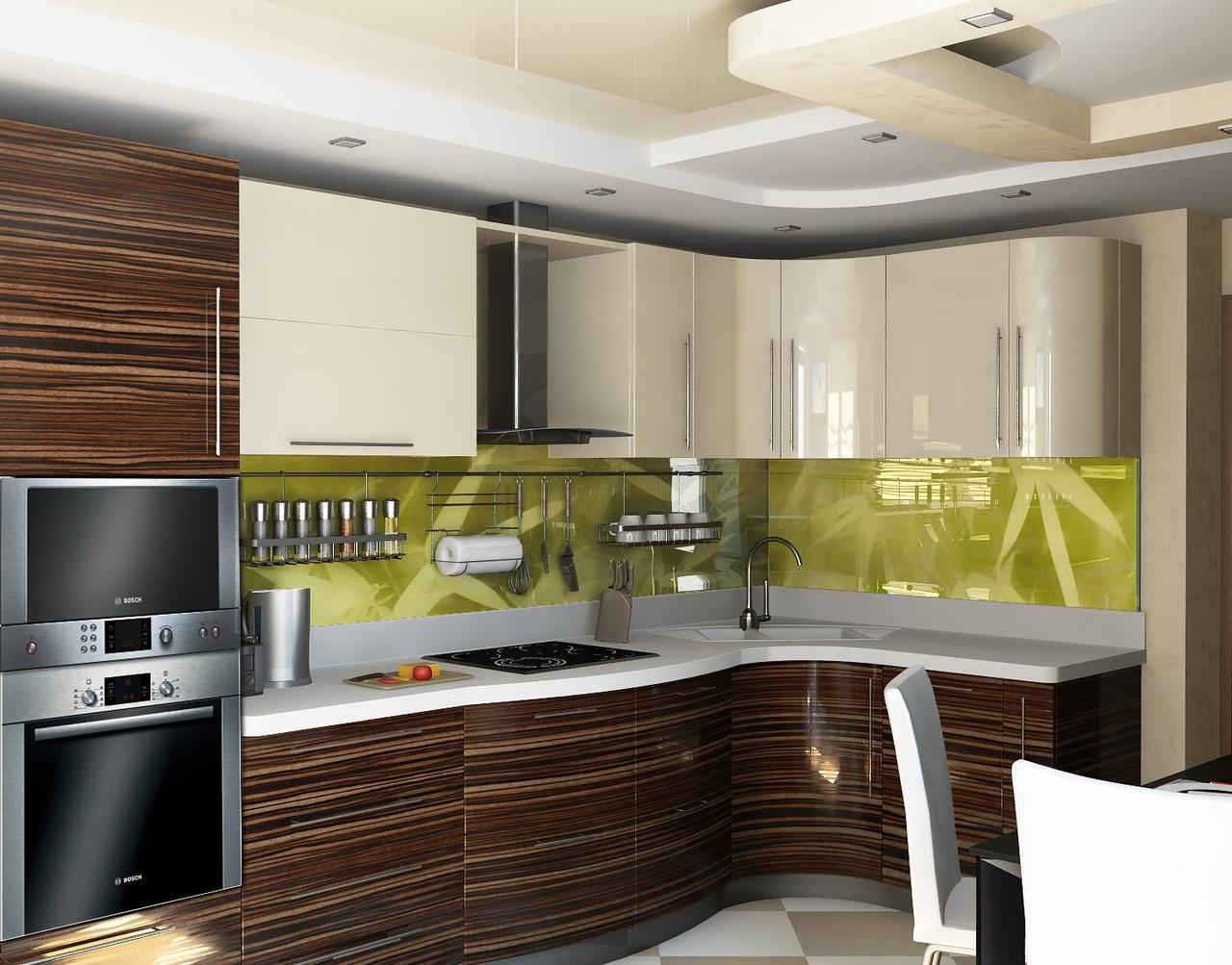 Кухня МДФ краска/шпон 119