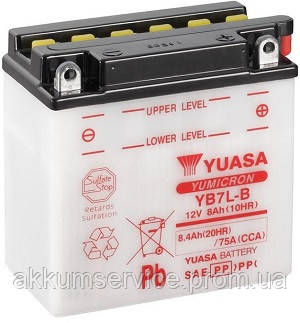 Аккумулятор мото Yuasa YuMicron 8.4AH/ 75А YB7L-B(CP)
