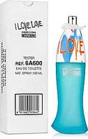 MOSCHINO I LOVE LOVE 100 мл ТЕСТЕР (100% Оригинал) (EDT туалетная вода)