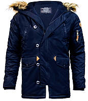 Куртка аляска Top Gun N-3B Parka (синяя)