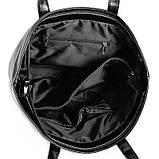 Містка жіноча чорна сумка код 15-161, фото 4