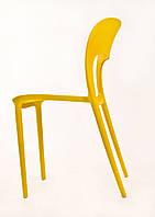Стул для кафе и баров пластиковый Ostin (Остин) от Onder Mebli желтый11